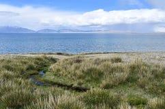 China, Tibet, holy lake Manasarovar.  stock photo