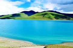 China Tibet Lake. Here is located in Tibet Chinese Yamdrok yumtso Lake Stock Photos