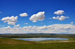 China Tibet Lake. Here is located in the China on the Qinghai Tibet Plateau Lakes Stock Images