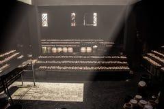 China Tibet Lhasa Jokhang candlelight Stock Photo