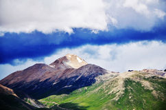 China Tibet Peak. Here is located in the China mountains of Tibet Royalty Free Stock Image