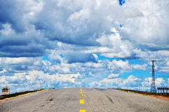 China Tibet Road. Here is located in the China Qinghai Tibet Plateau on the road Stock Photography