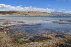 China, Tibet, the sacred lake for Buddhists Manasarovar.  royalty free stock image