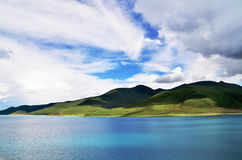 China Tibet Yamdrok yumtso Lake. Here is located in Tibet Chinese Yamdrok yumtso Lake Royalty Free Stock Photo