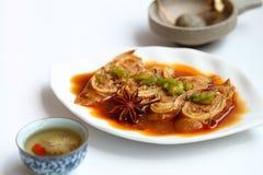 China tofu dish. And Lycium barbarum Chrysanthemum Tea Stock Photo
