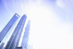China Top three highest building in shanghai lujiazui Royalty Free Stock Images