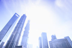 China Top three highest building in shanghai lujiazui Royalty Free Stock Photography