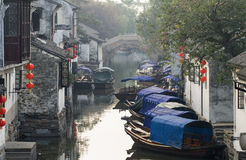 China Tourism: Zhouzhuang Ancient Water Town Stock Photos
