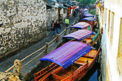 China tourism: Zhouzhuang ancient Water town Stock Photography