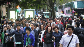 China tourist in Taiwan Stock Image