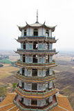 China tower. China tower in rural Thailand stock image