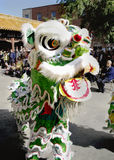 China town. Chinese new year lion dance cultural festival china town montreal stock image