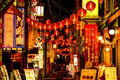 China Town Alley Royalty Free Stock Images