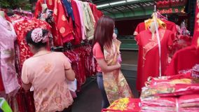 China town in Bangkok stock footage