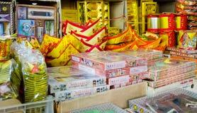 CHINA TOWN,BANGKOK,THAILAND - FEBRUARY 8,2017 :Selling Chinese G Royalty Free Stock Photos