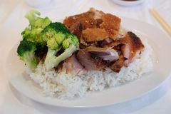 China Town Barbecue Pork Stock Photography