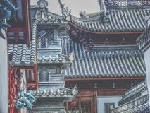China Town. Chinese Houses in China Town royalty free stock image
