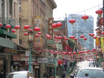 China Town decorated for the Chinese new year Royalty Free Stock Photography