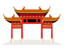 China town door and floor isolate on white background vector design Stock Image