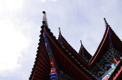 China town - Lijiang Rooftops Stock Image