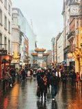 China town in London. The meeting of two cultures, tradition China and developed world of capitalism Stock Photos