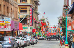 China town main street in San Francisco Royalty Free Stock Photos