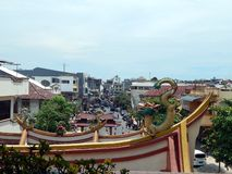 China town in Manado. The panorama of China town in Manado city North Sulawesi Indonesia royalty free stock photography