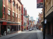 China Town in Melbourne. City with many classic buildings Stock Images