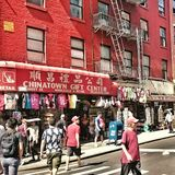 China Town in NYC. A busy day in Chinatown Stock Photography