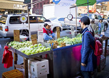 China Town Produce Stand Royalty Free Stock Photos