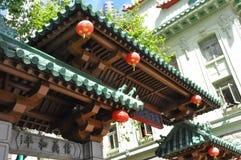 China Town in San Francisco. Entrance to China town in San Francisco, America royalty free stock images