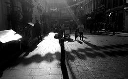 China Town. Shadows Stock Photo