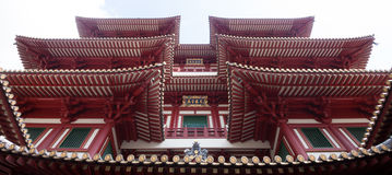 China Town Singapore. Buddha Tooth Relic Temple in China Town Singapore Royalty Free Stock Images