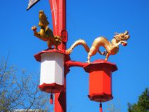 China Town Streetlights Royalty Free Stock Images