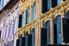 China town. Window frame of China town in Singapore stock photo