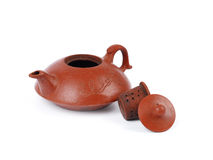 China tradicional brown tea pot and tea cups Royalty Free Stock Photography