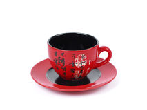 China tradicional red tea cup . isolated stock photography