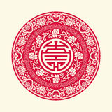 China traditional auspicious symbols and circle frames Stock Photography