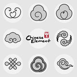 China traditional clouds icons pattern set Stock Images