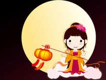 China traditional festival Mid-Autumn vector illustration