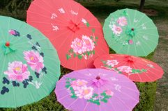 China traditional manual umbrella Royalty Free Stock Photography