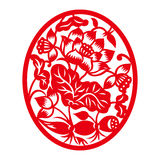 China traditional paper-cut art(Floral Pattern).  Stock Photos