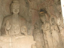 China. Traditional park ancient statues of the gods. Royalty Free Stock Photos