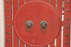 China traditional red door Stock Image
