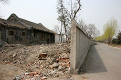 China traditional residential house is disappearing Royalty Free Stock Images
