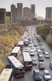 China: Traffic jam. Traffic jam in Xi'an, China Stock Image