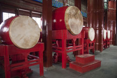 China Travel, Drum in Chinese Drum Tower Royalty Free Stock Photos