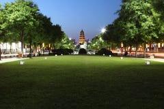 China u. x28; XI u. x27; ein wildes Gans pagoda& x29; und datang Stadtnaturschutzgebiet in Shaanxi-Provinz Lizenzfreies Stockbild
