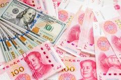 China- und USA-Geld Stockfoto