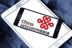 China Unicom company logo. Logo of China Unicom company on samsung mobile. China Unicom is a Chinese state-owned telecommunications operator of China. China Royalty Free Stock Photography